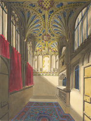 Bishop Audley's chapel in cathedral, Salisbury